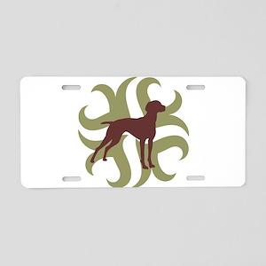 Vizsla Dog Tribal Aluminum License Plate