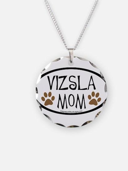 Vizsla Mom Oval Necklace