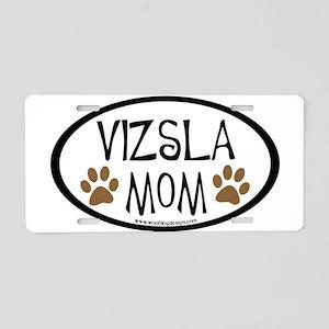 Vizsla Mom Oval Aluminum License Plate