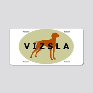 vizsla dog Aluminum License Plate