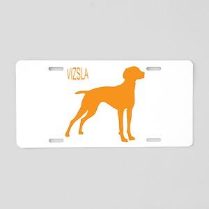 Vizsla Silhouette Aluminum License Plate
