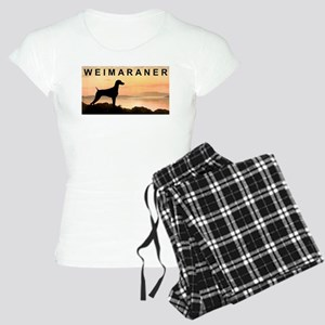 Weimaraner Sunset Women's Light Pajamas