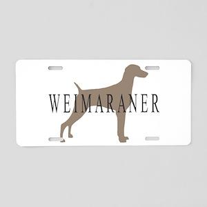 Weimaraner Greytones Aluminum License Plate