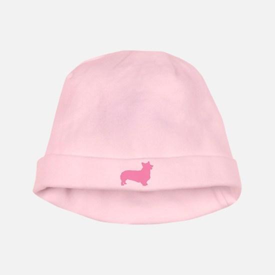 Pink Pembroke Welsh Corgi baby hat