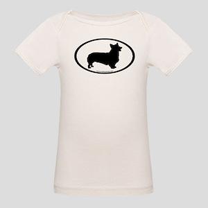 Welsh Corgi Oval Organic Baby T-Shirt