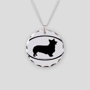 Welsh Corgi Oval Necklace Circle Charm
