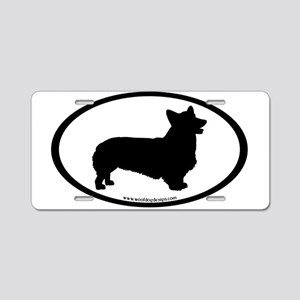 Welsh Corgi Oval Aluminum License Plate