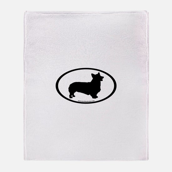 Welsh Corgi Oval Throw Blanket