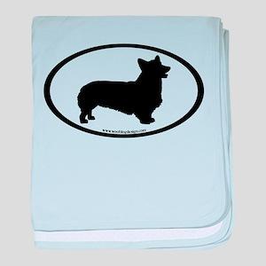 Welsh Corgi Oval baby blanket