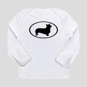 Welsh Corgi Oval Long Sleeve Infant T-Shirt