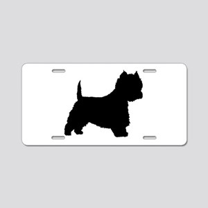 West Highland Terrier Aluminum License Plate