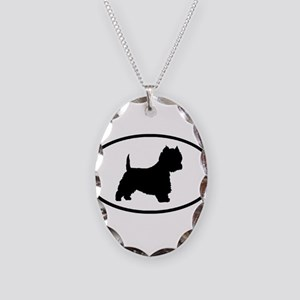 West Highland Terrier Oval Necklace Oval Charm