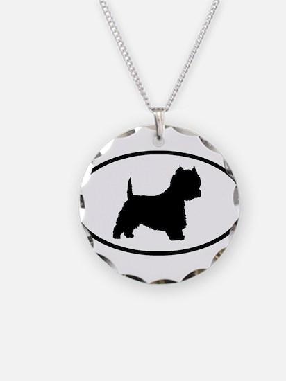 West Highland Terrier Oval Necklace