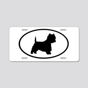West Highland Terrier Oval Aluminum License Plate