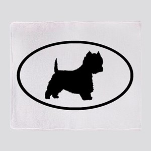 West Highland Terrier Oval Throw Blanket