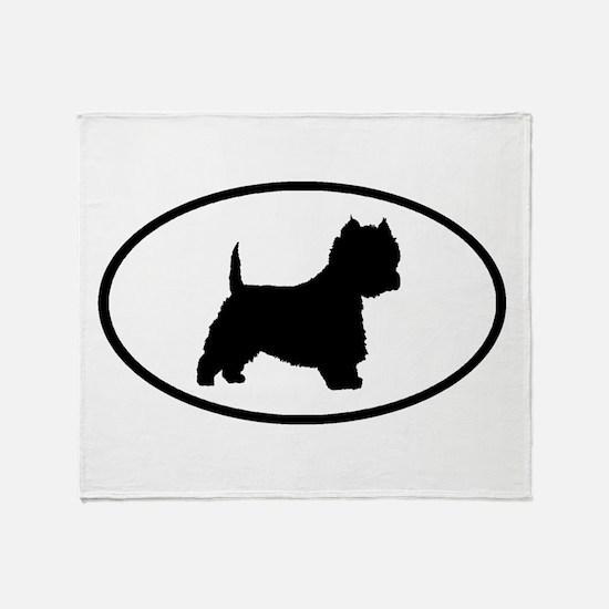 West Highland Terrier Oval Throw Blanket