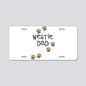 Westie Dad Aluminum License Plate