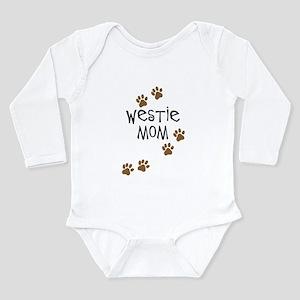 Westie Mom Long Sleeve Infant Bodysuit