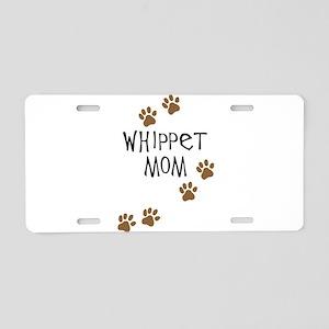 Whippet Mom Aluminum License Plate