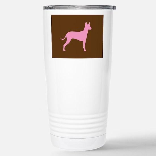 Xolo Dog Pink Profile Stainless Steel Travel Mug