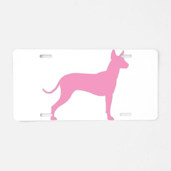 Xolo Dog Pink Profile Aluminum License Plate