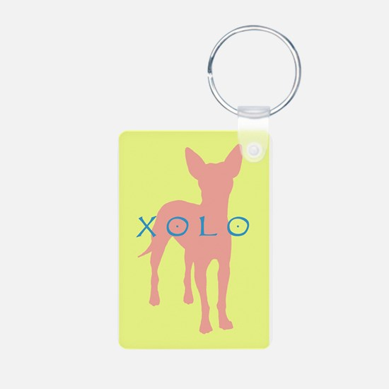 xolo dog Aluminum Photo Keychain