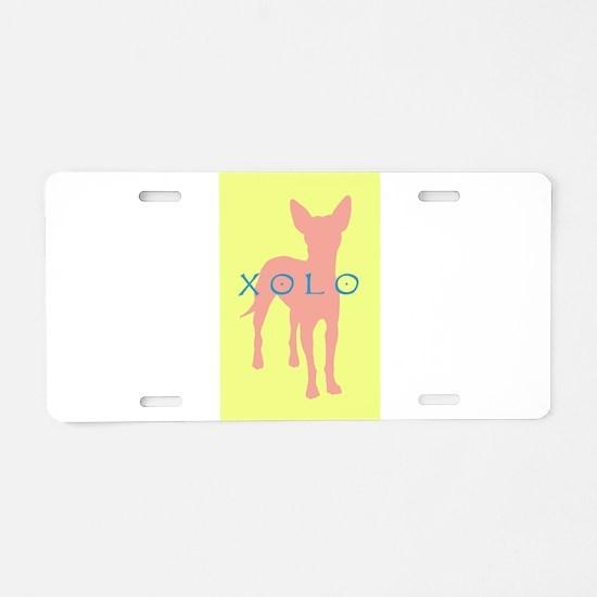 xolo dog Aluminum License Plate