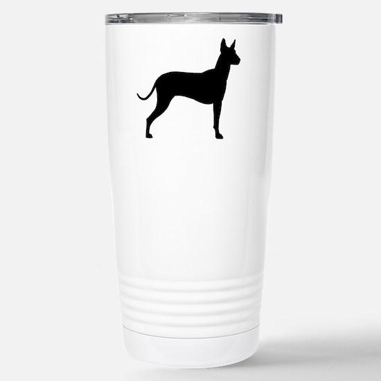 Xoloitzcuintli Profile Stainless Steel Travel Mug