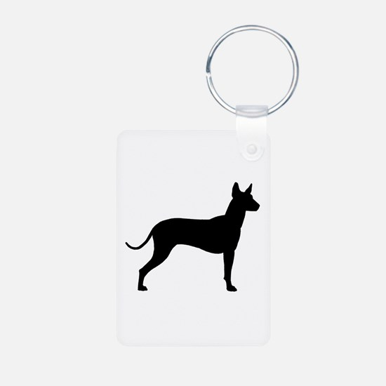 Xoloitzcuintli Profile Aluminum Photo Keychain