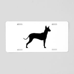 Xoloitzcuintli Profile Aluminum License Plate