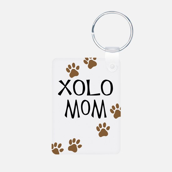 Xolo Mom Aluminum Photo Keychain