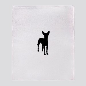 xoloitzcuintli dog Throw Blanket