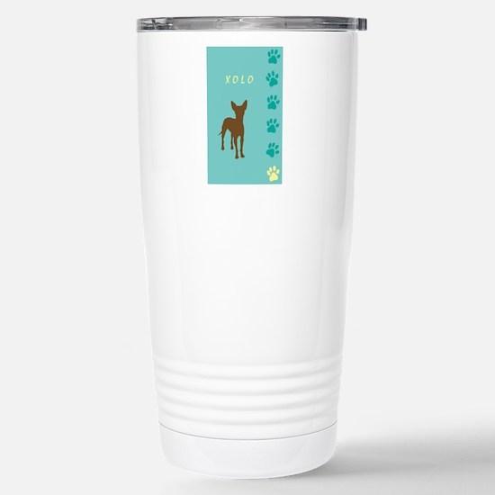 xoloitzcuintli paws Stainless Steel Travel Mug