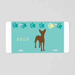 xoloitzcuintli paws Aluminum License Plate