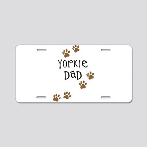 Yorkie Dad Aluminum License Plate