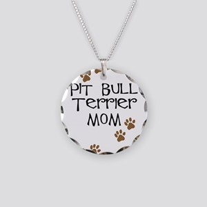 Pit Bull Terrier Mom Necklace Circle Charm