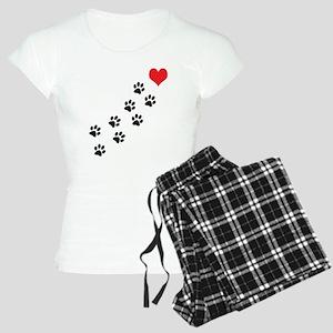 Paw Prints To My Heart Women's Light Pajamas