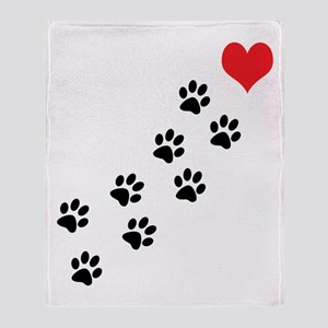 Paw Prints To My Heart Throw Blanket