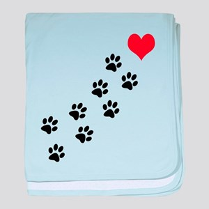 Paw Prints To My Heart baby blanket