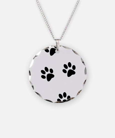 Walk-On-Me Pawprints Necklace
