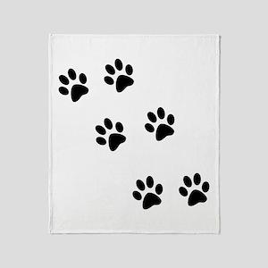 Walk-On-Me Pawprints Throw Blanket
