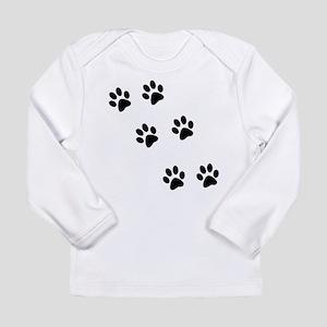 Walk-On-Me Pawprints Long Sleeve Infant T-Shirt