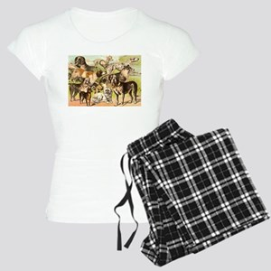 Dog Group From Antique Art Women's Light Pajamas