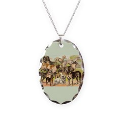 Dog Group From Antique Art Necklace