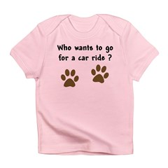 Paw Prints Dog Car Ride Infant T-Shirt