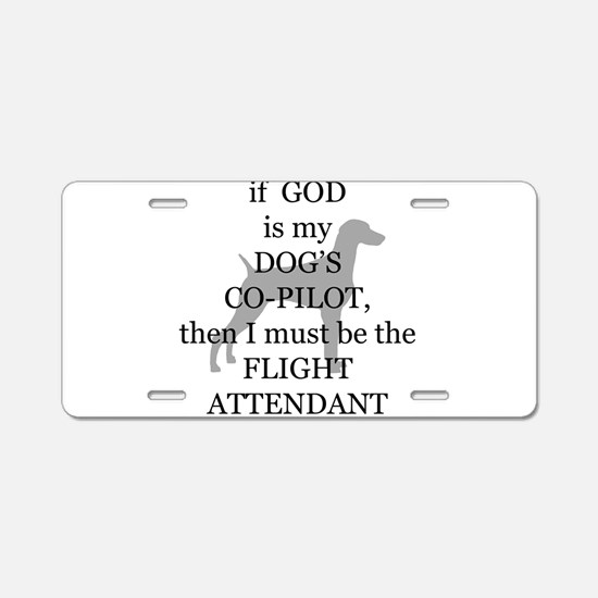 Dog Attendant Aluminum License Plate