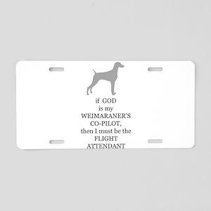 Weim Attendant Aluminum License Plate