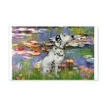 Lilies / Dalmation 20x12 Wall Decal