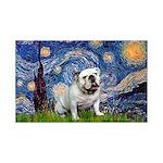Starry Night English Bulldog 35x21 Wall Decal