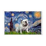 Starry Night English Bulldog 20x12 Wall Decal